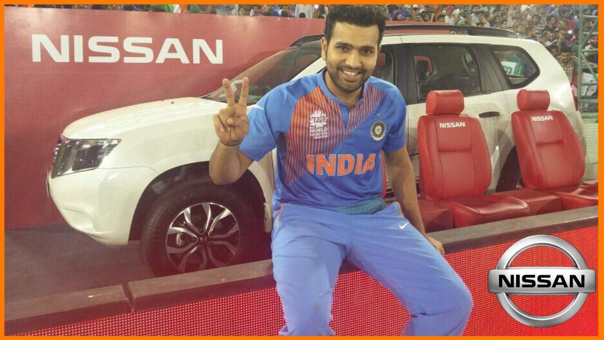 Rohit Sharma endorsed brand - Nissan
