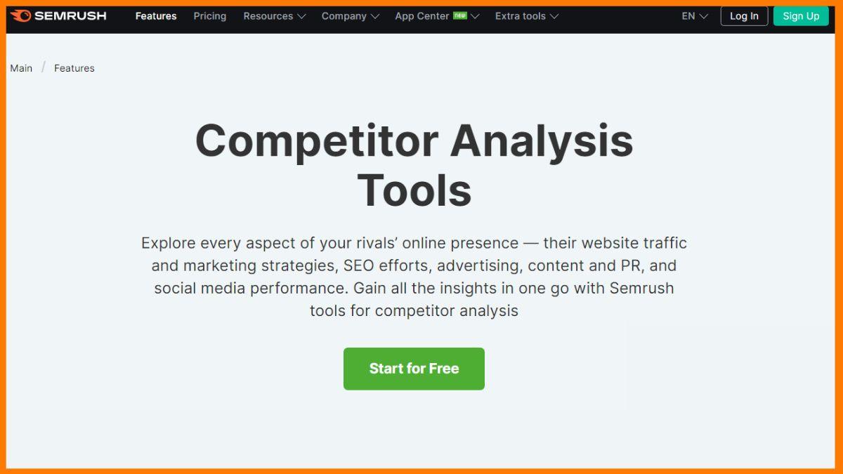 Semrush- Free online Competitor Analysis Tools