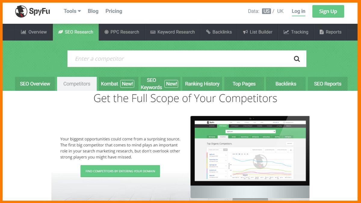 Spyfu- Free Online Competitor Analysis Tools