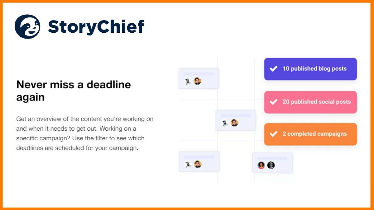 StoryChief Campaign Calendar