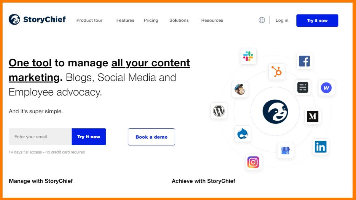 StoryChief- Free Demo