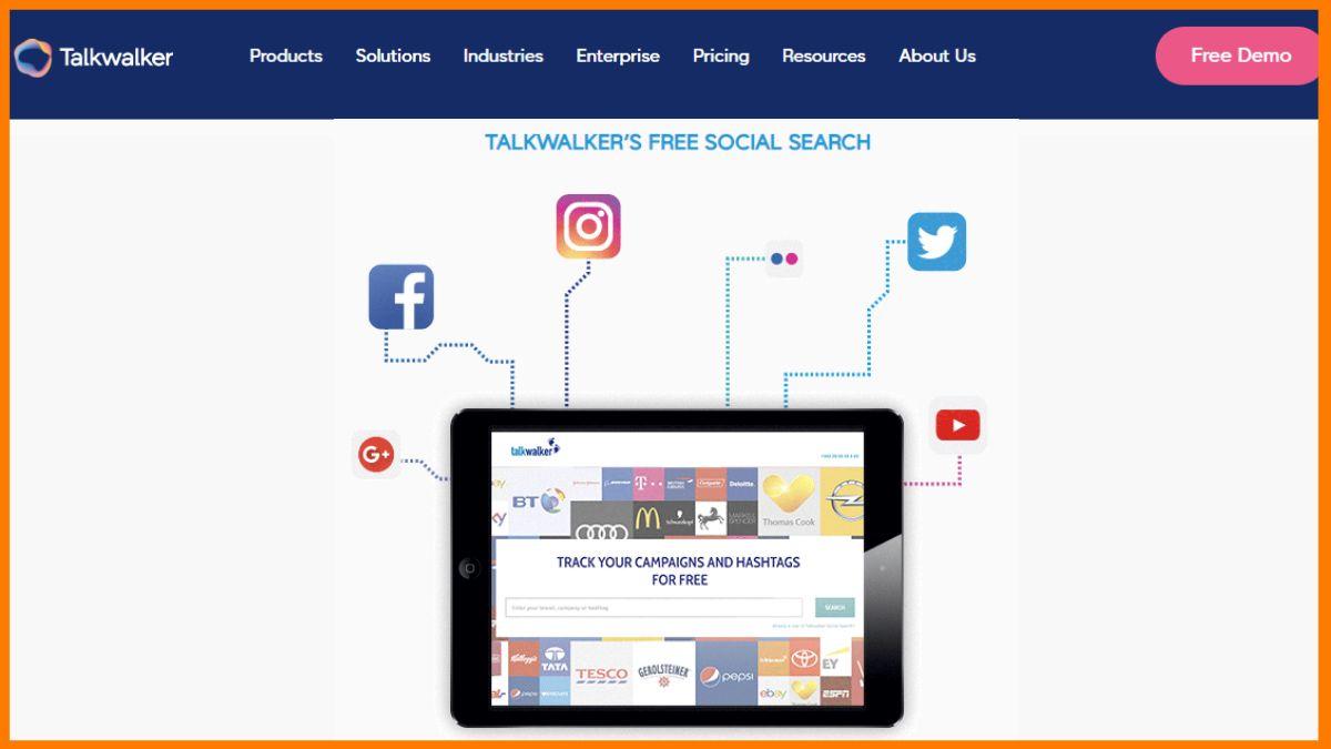 Talkwalker- Free Online Competitor Analysis Tools