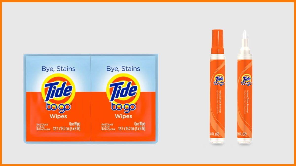 Tide To Go Wipes and Tide To Go Pens