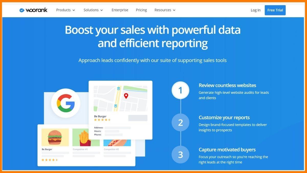 Woorank - SEO Competitor Analysis Tools