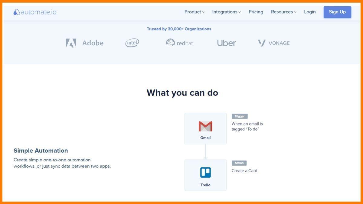 Automate.io Website