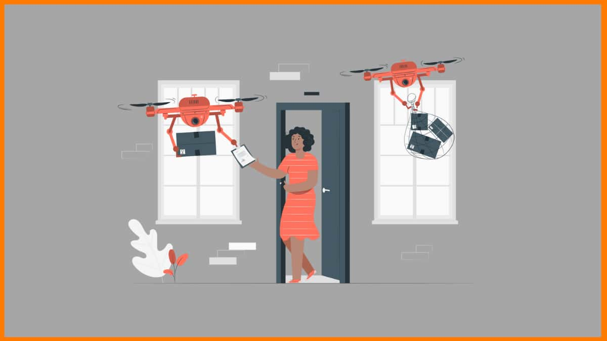 Drone is supposed to be the future of parcel delivery.