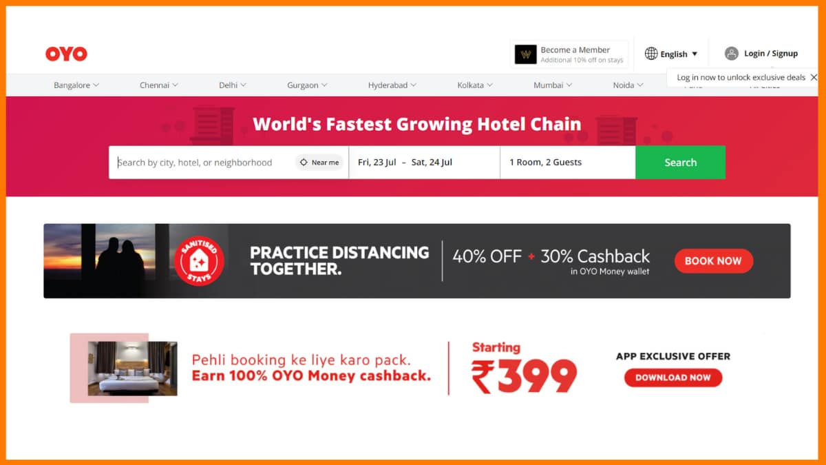OYO Online Booking