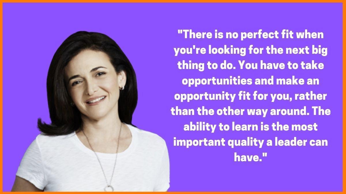Sheryl Sandberg on leadership