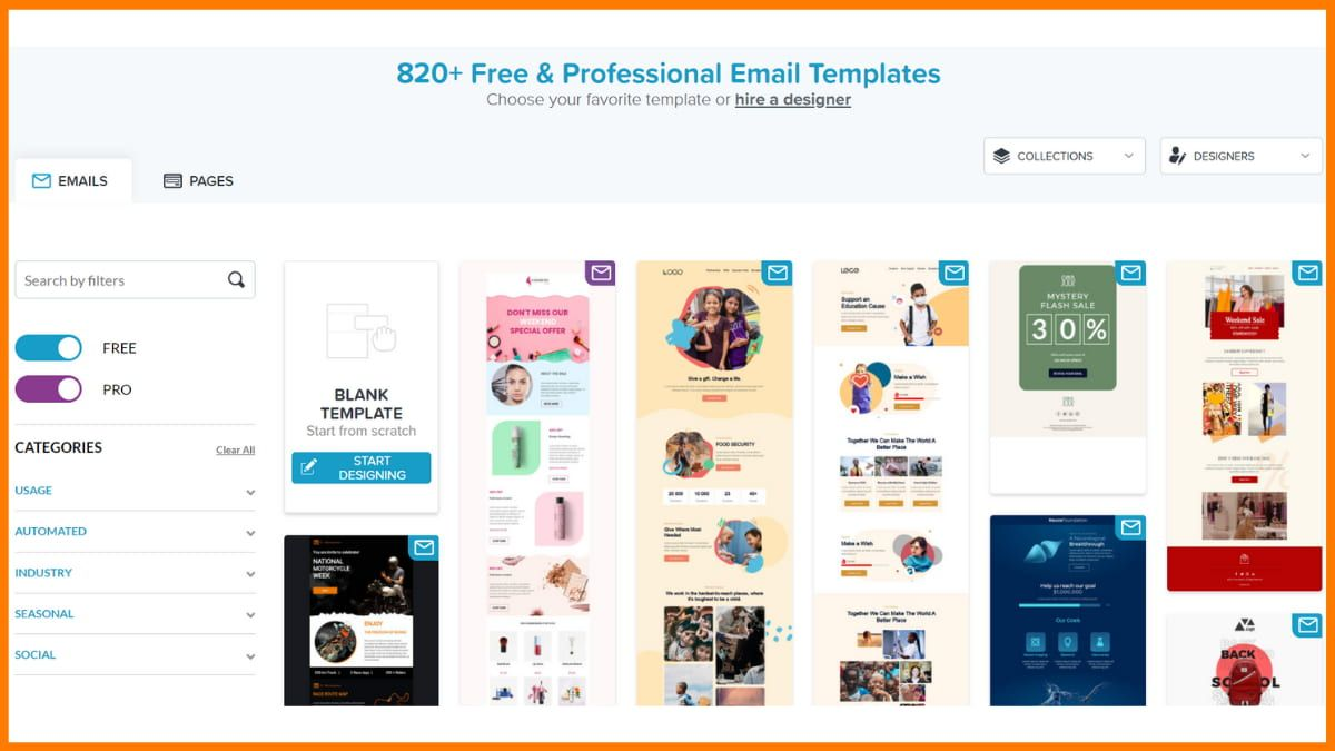BEE Free Email Templates