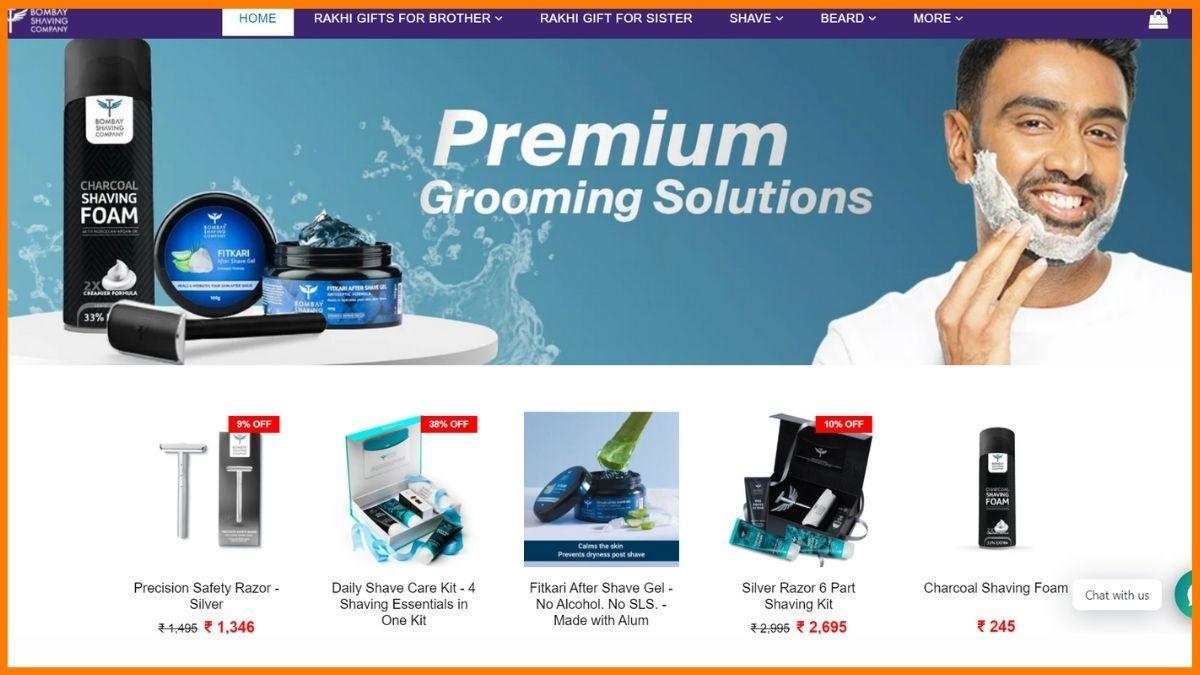 Bombay Shaving Company Website