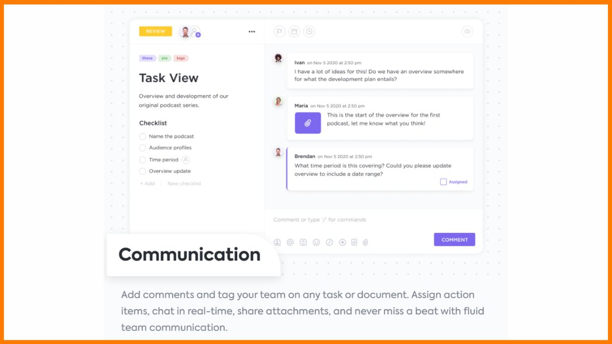 Chat Functionality in ClickUp