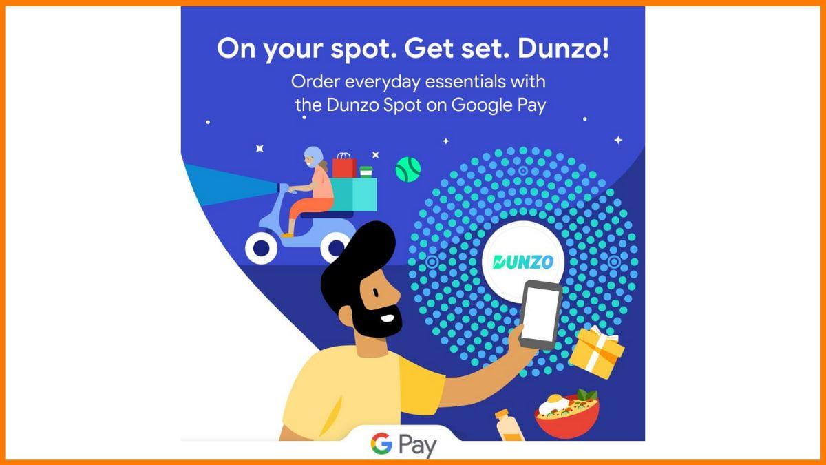 Dunzo Partnership with Google Pay