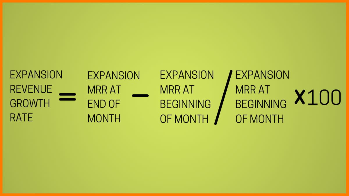 Calculating expansion revenue growth rate