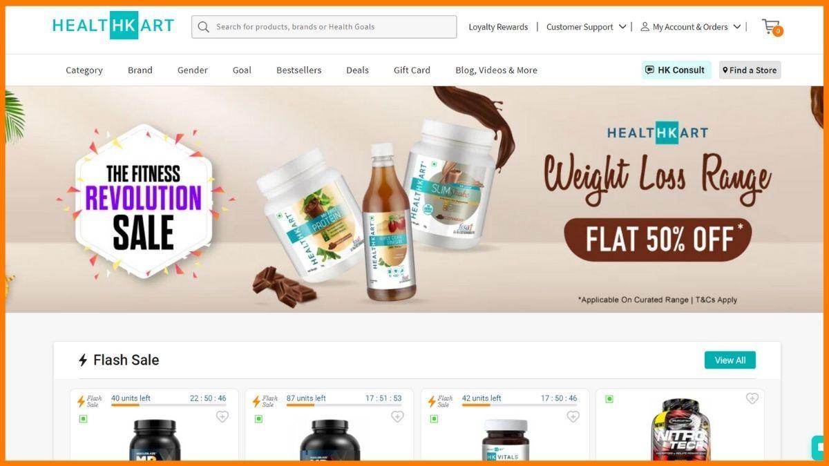 Healthkart Website