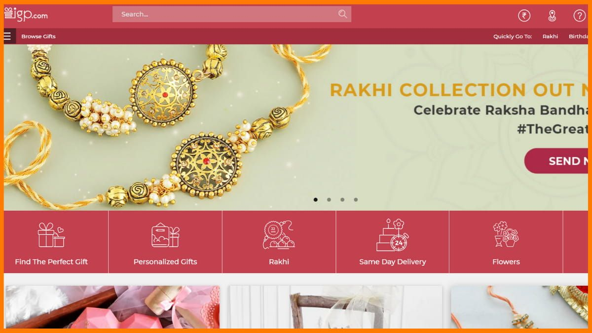 Indian Gifts Portal Website
