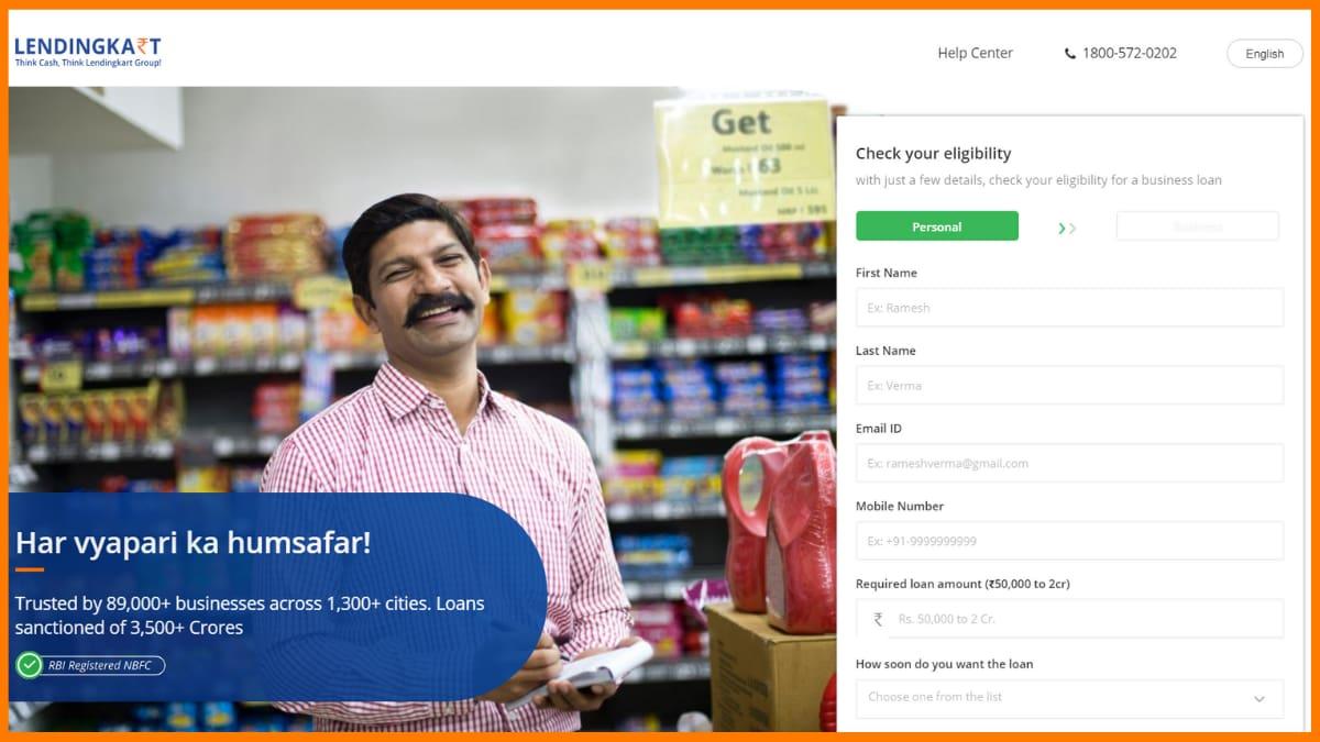 Lendingkart Website