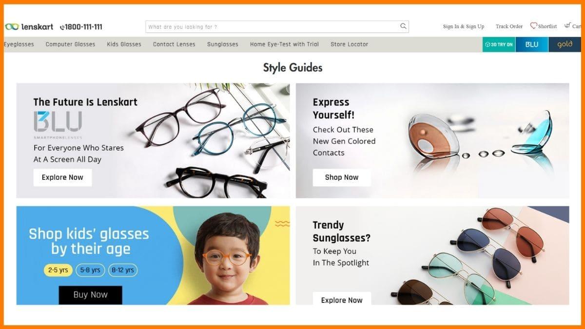 Lenskart Website