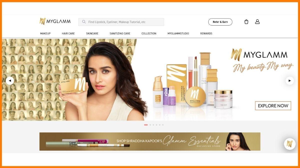 MyGlamm Website