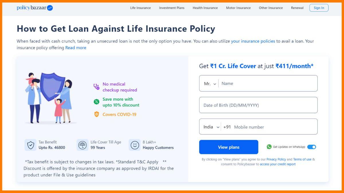 Policybazaar Website