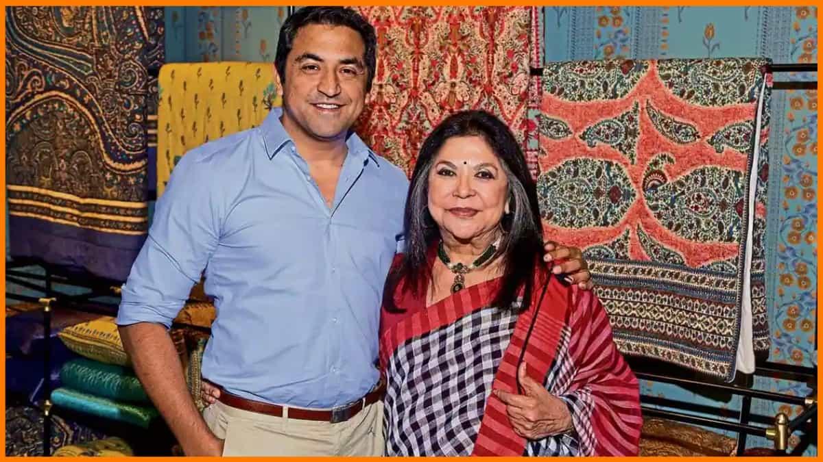 Ritu Kumar with his son Amrish Kumar
