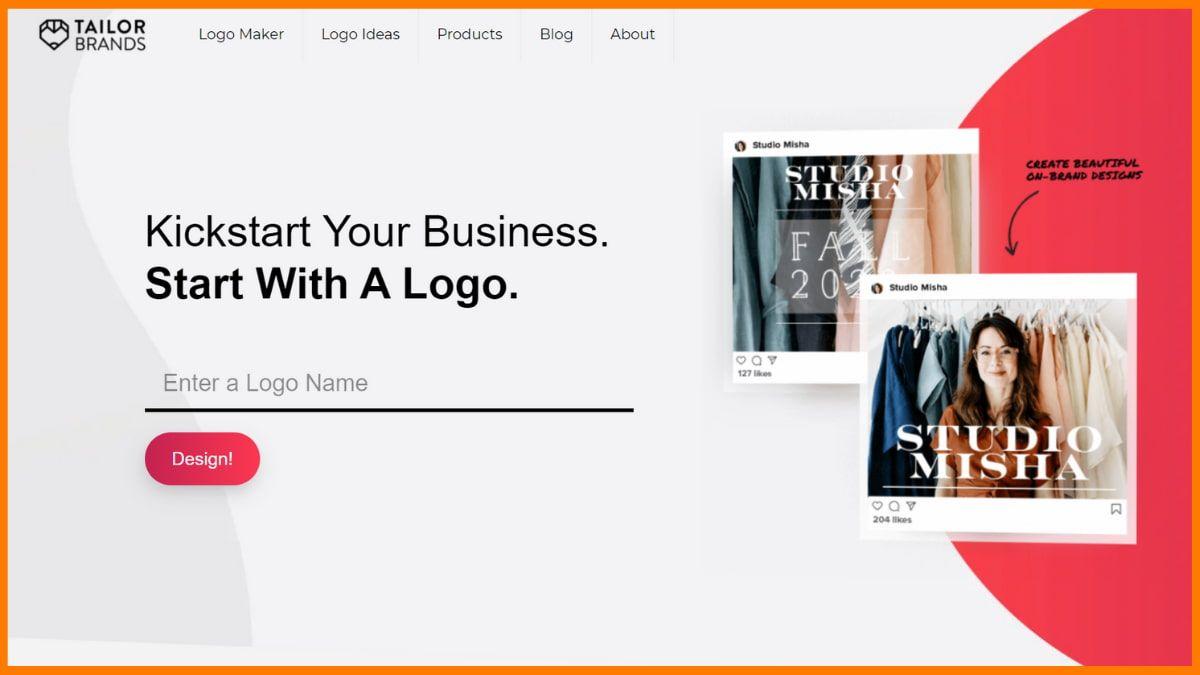 Tailor Brands Website