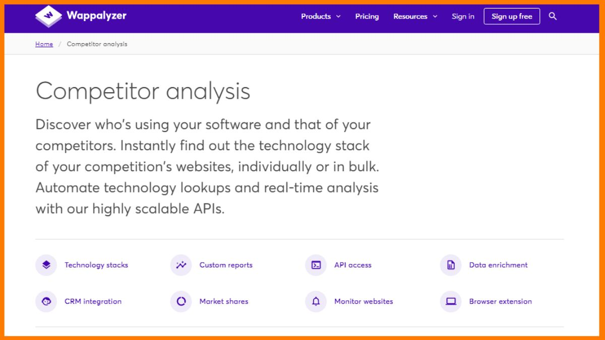 Wappalyzer | Best Competitor Website Analysis Tools