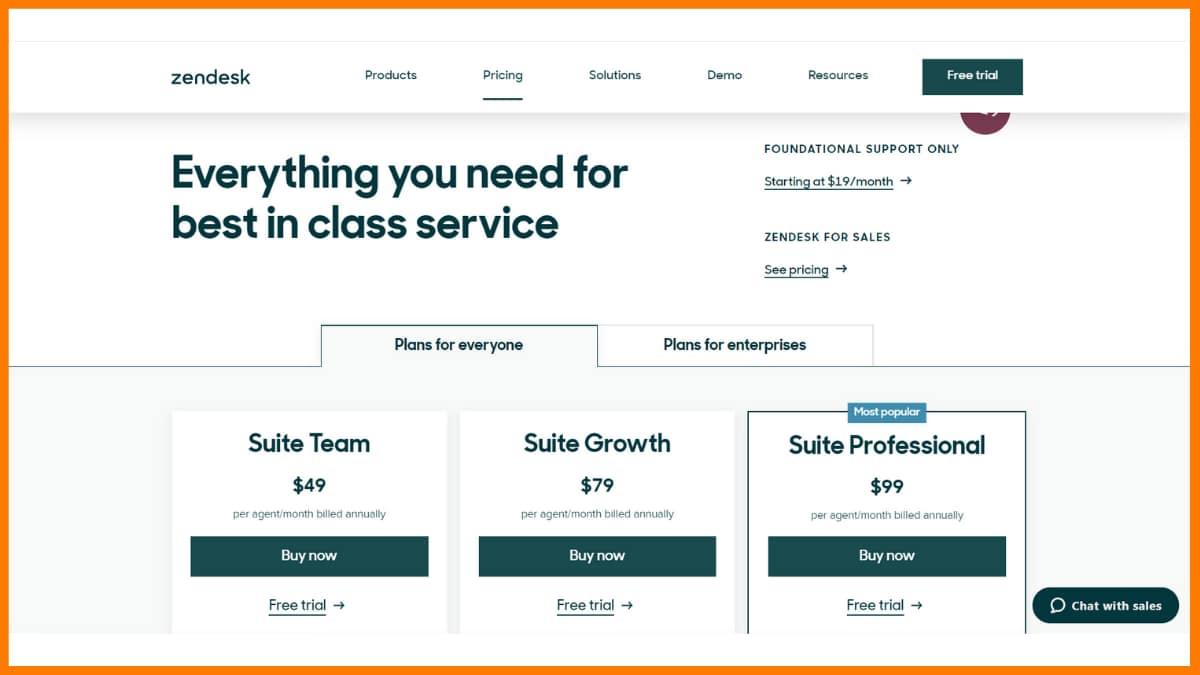 Zendesk Pricing - Chatbot Saas Tools