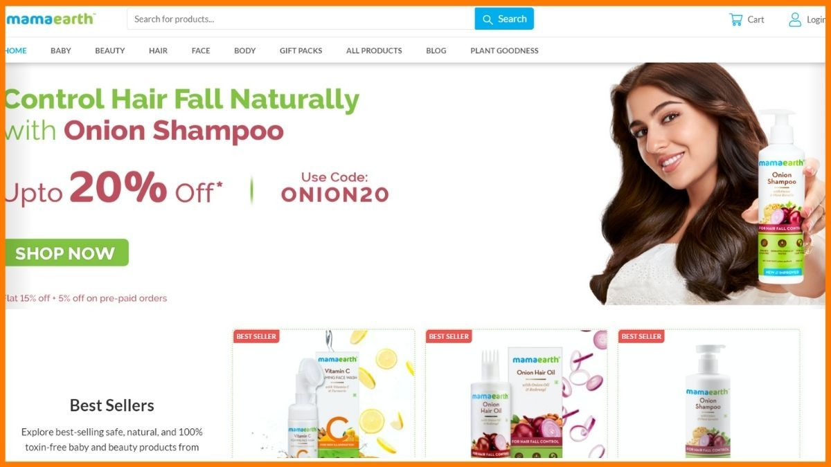 Mamaearth Website