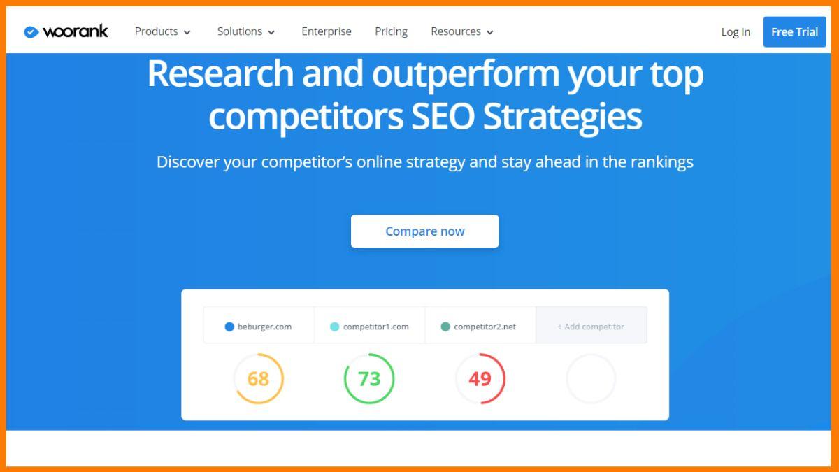 WooRank | Best Competitor Website Analysis Tools