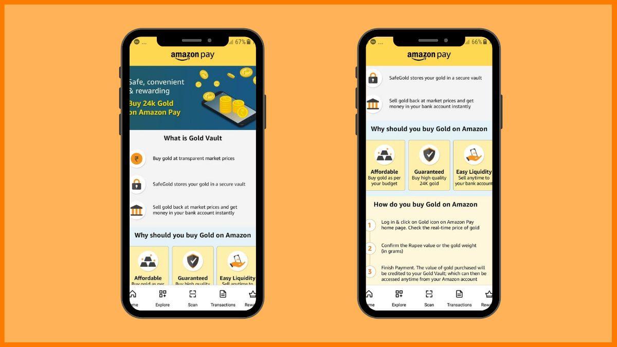 Amazon Gold Investment Platform | Digital Gold Investment Platform