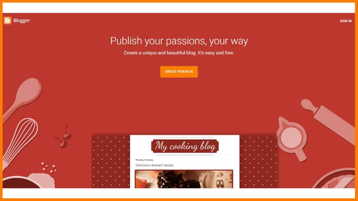 Blogger Website | Best Content Management System