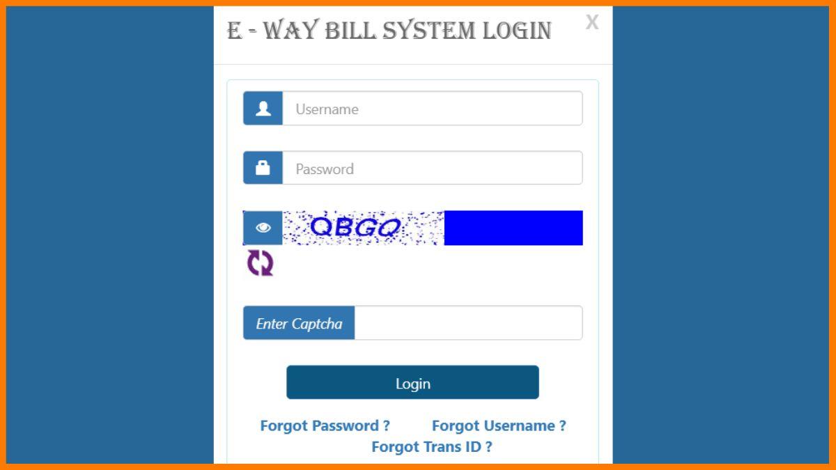 eway bill login system