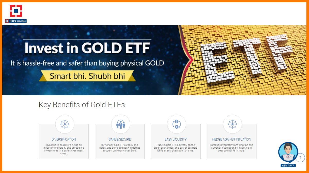 HDFC Securities Gold Investment Platform | Digital Gold Investment Platform
