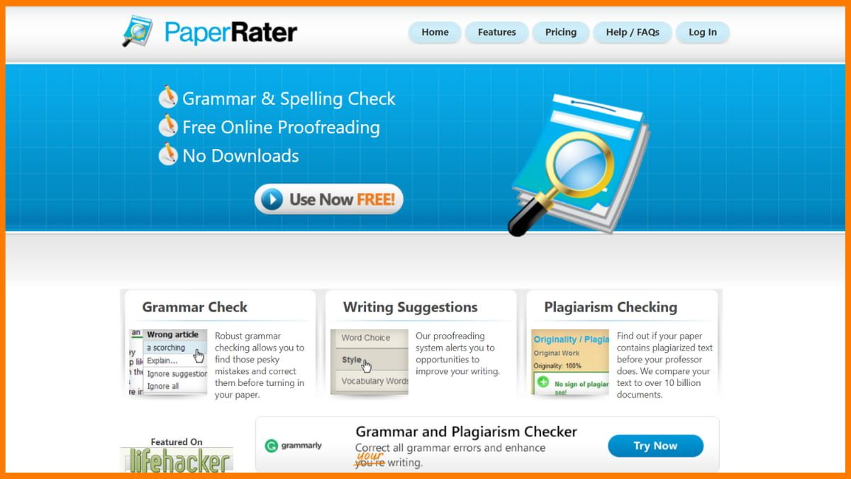 PaperRater | Best Plagiarism Checker