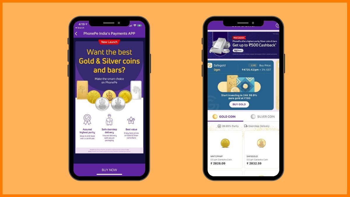 Phonepe Gold Investment platform | digital gold investment platform