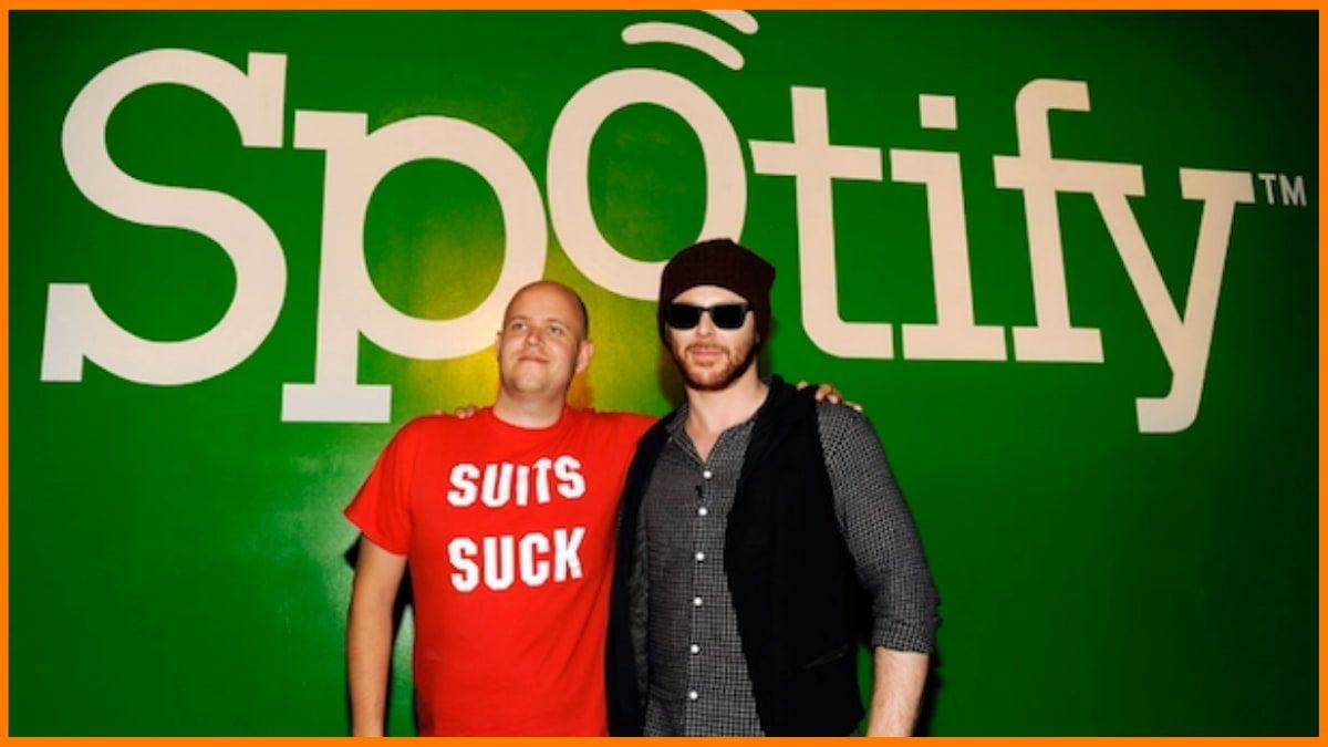 Sean Parker with Spotify Founder - Daniel Ek