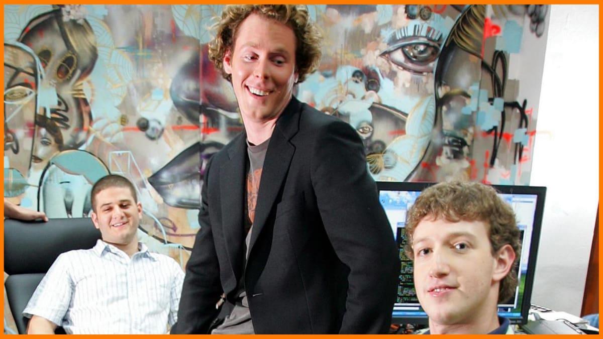 Sean Parker with Mark Zuckerberg