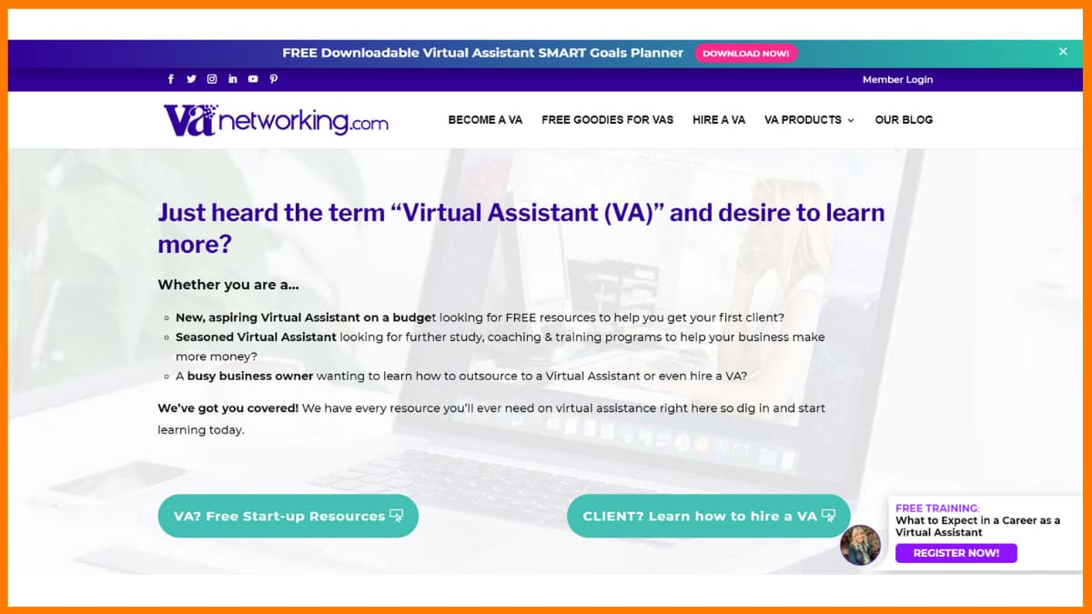 VA Networking provides a platform to work as a Virtual Assistant.