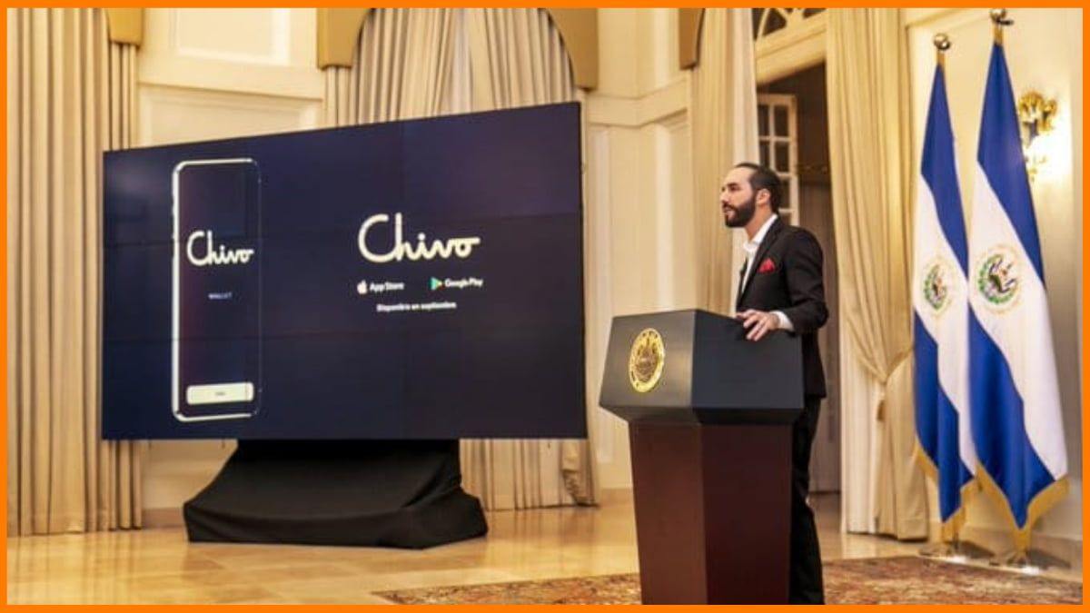 The President of El Salvador, Nayib Bukele, introduces the Chivo app