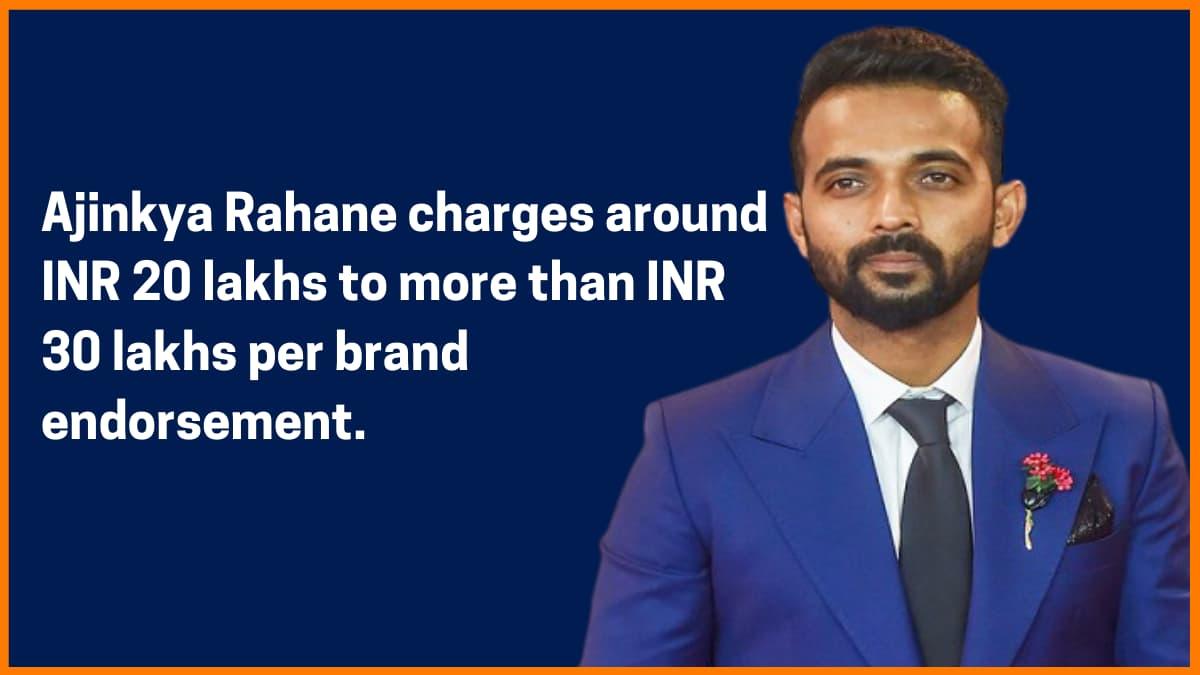 Ajinkya Rahane Brand Endorsement Fee