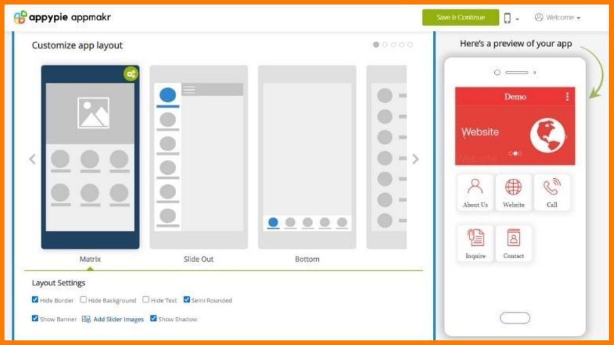 AppyPie App Development Dashboard |  Best No code app builder