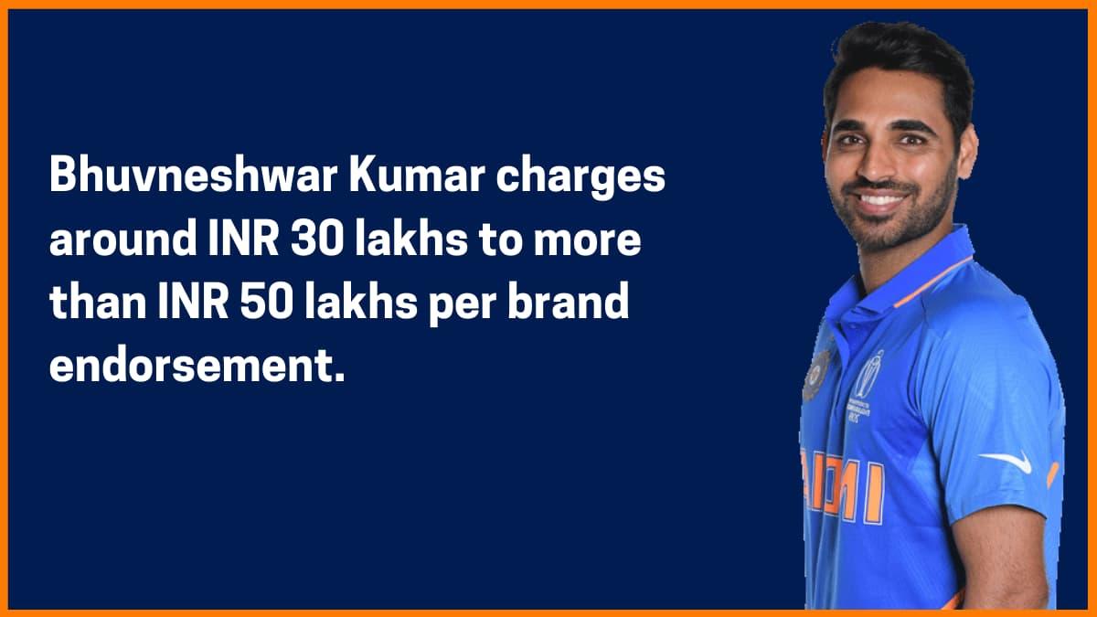 Bhuvneshwar Kumar Brand Endorsement Fee