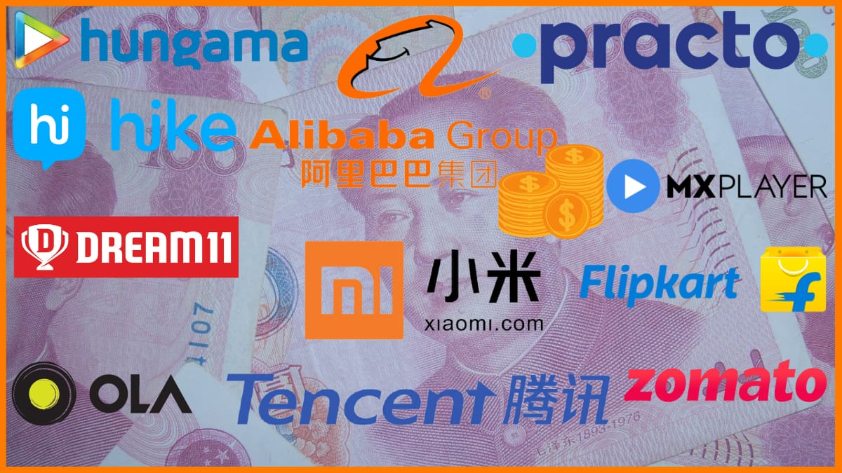 List of Indian Companies With Chinese Investment | Indian Startups Funded by China