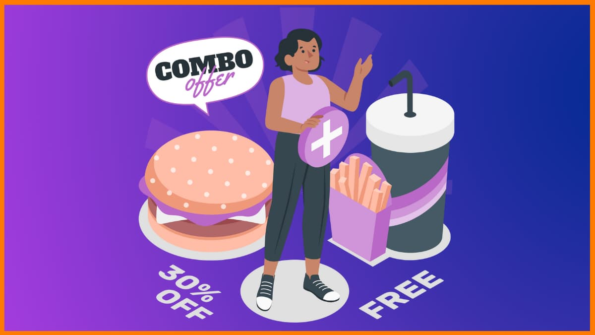 Combo offers are great restaurant marketing ideas to entice customers.