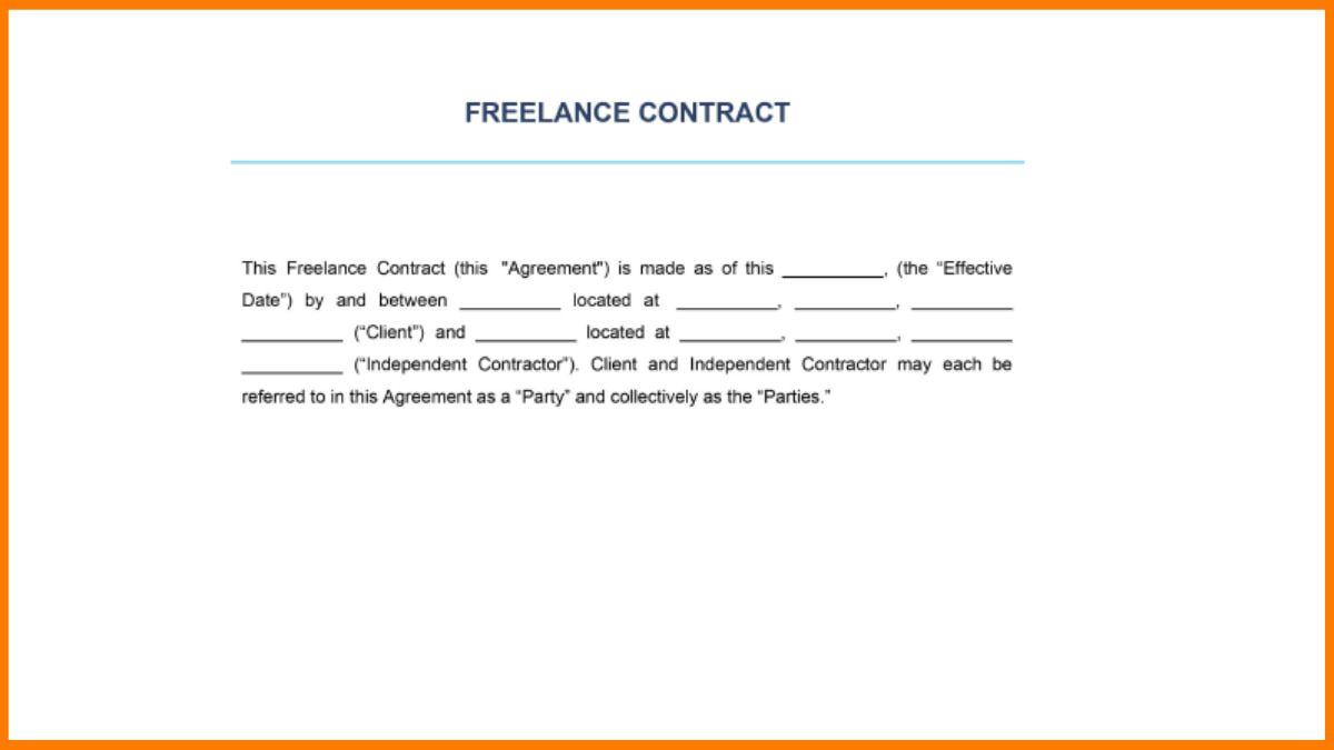 Introductory Statement of Freelance Contract