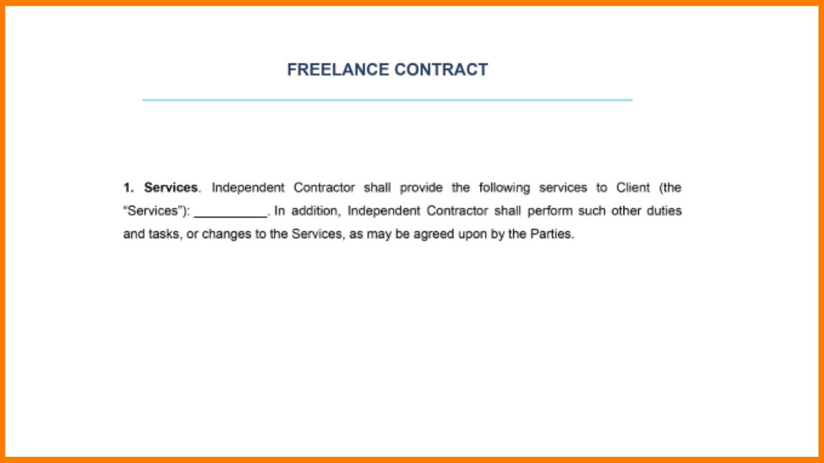 Scope of the Project in Freelance Contract