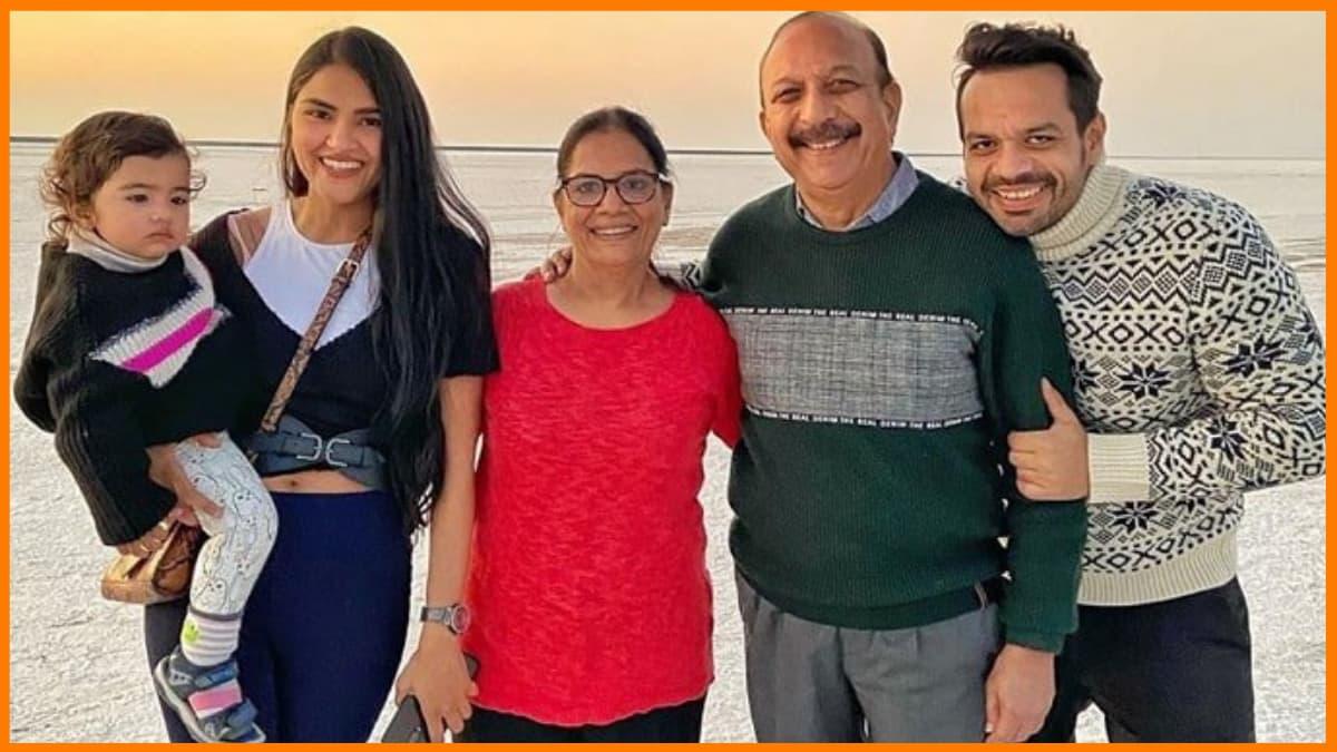 A snapshot of Gaurav Taneja's family.