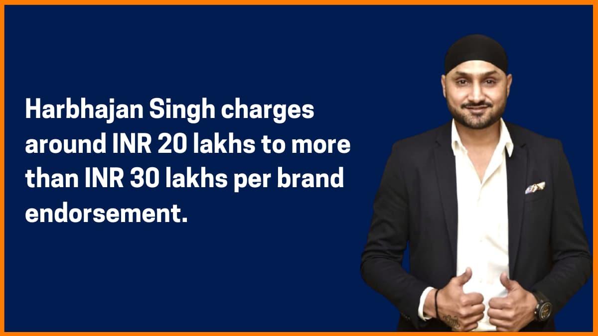 Harbhajan Singh Brand Endorsement Fee