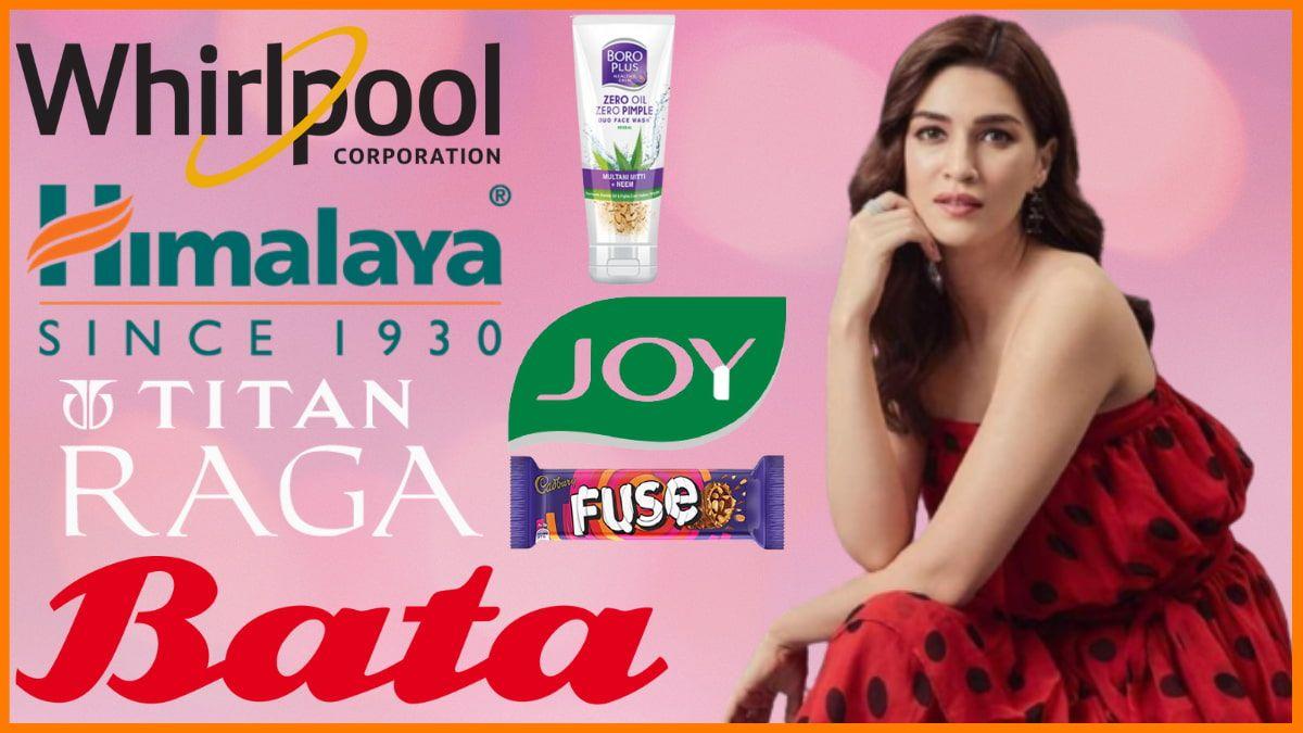 List of Brands Endorsed by Kriti Sanon