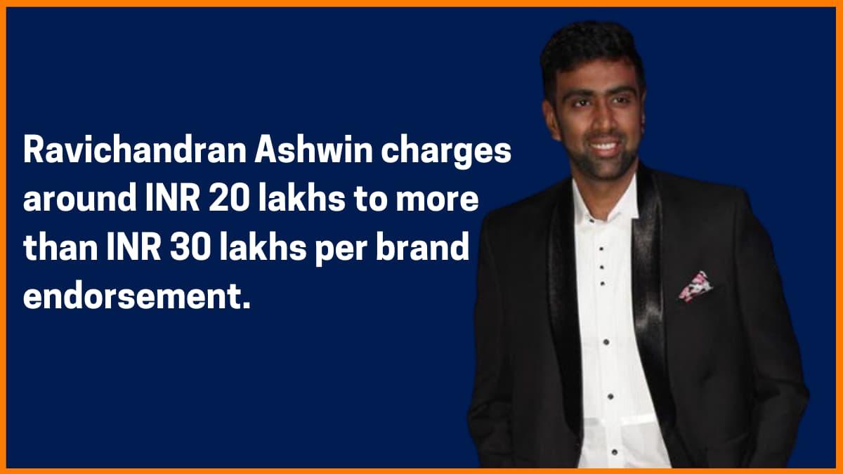 Ravichandran Ashwin Brand Endorsement Fee